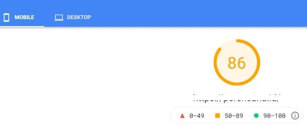 Hasil pengujian PageSpeed Insight blog yang ditempatkan di web hosting Jetorbit memperlihatkan skor 86 untuk mobile.